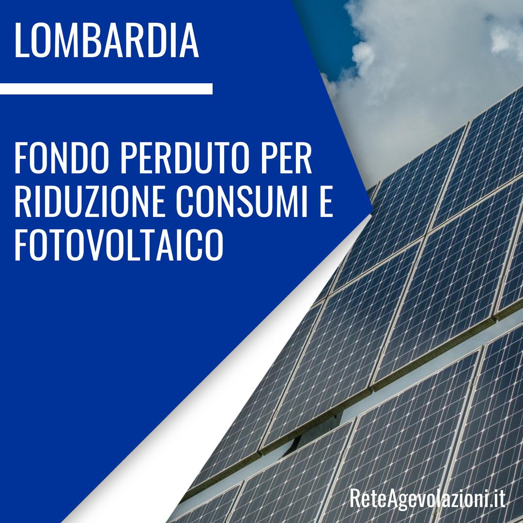 incentivi fotovoltaico lombardia