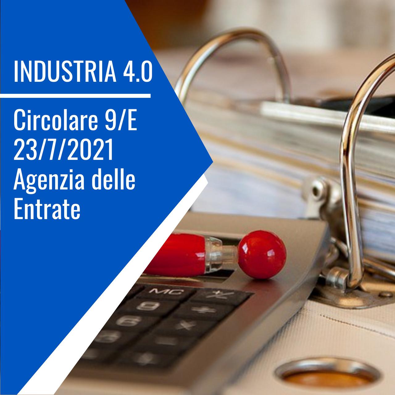 industria 4 0 circolare 9 E 2021